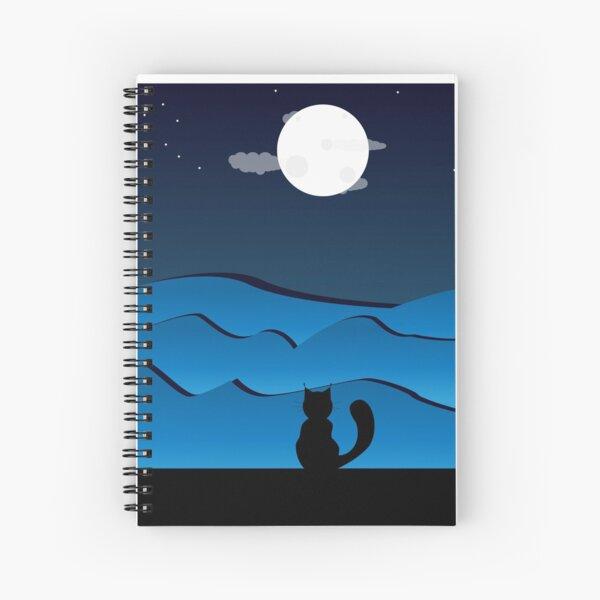 Un chat dans la nuit Cahier à spirale