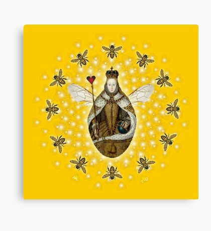Mandala Queen Bee Canvas Print