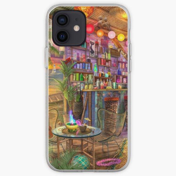 Tiki Beach Sunset iPhone Soft Case