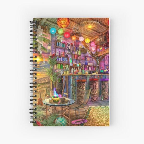 Tiki Beach Sunset Spiral Notebook