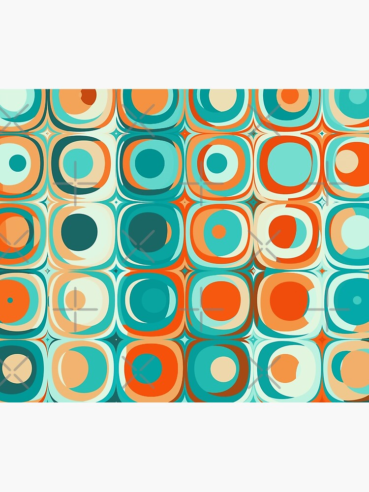 Turquoise and Orange Dots by kellydietrich