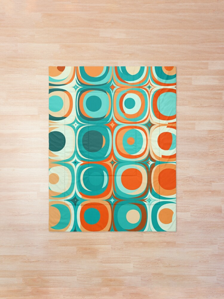 Alternate view of Turquoise and Orange Dots Comforter