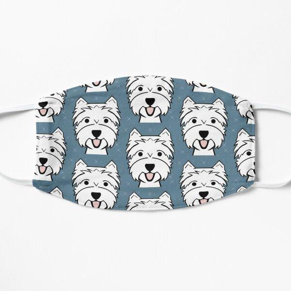 West Highland Terrier - Westies - Westie dogs - blue Flat Mask