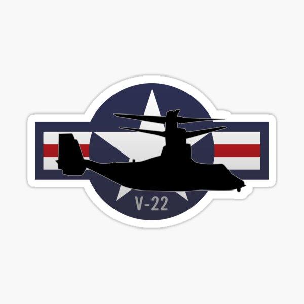 V-22 Osprey Vertical Lift VTOL Military Airplane Sticker