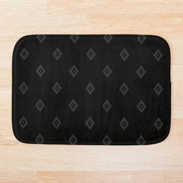 Diamonds Black on Black Bath Mat