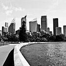 Sydney CBD Black and White by William Goschnick