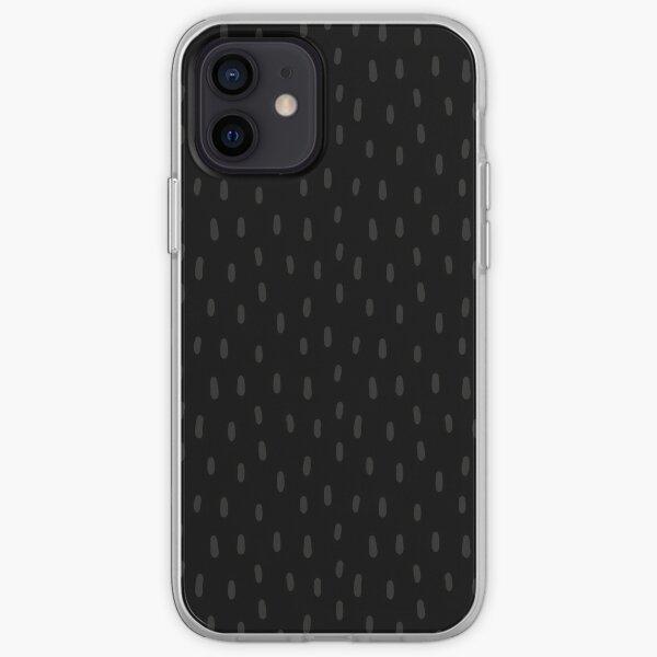 Dashed Dots Black on Black iPhone Soft Case