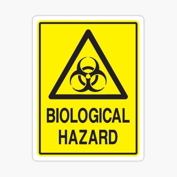 CAUTION WARNING DANGER BIO HAZARD TOXIC BUMPER LAPTOP Decal Sticker UK FREE POST