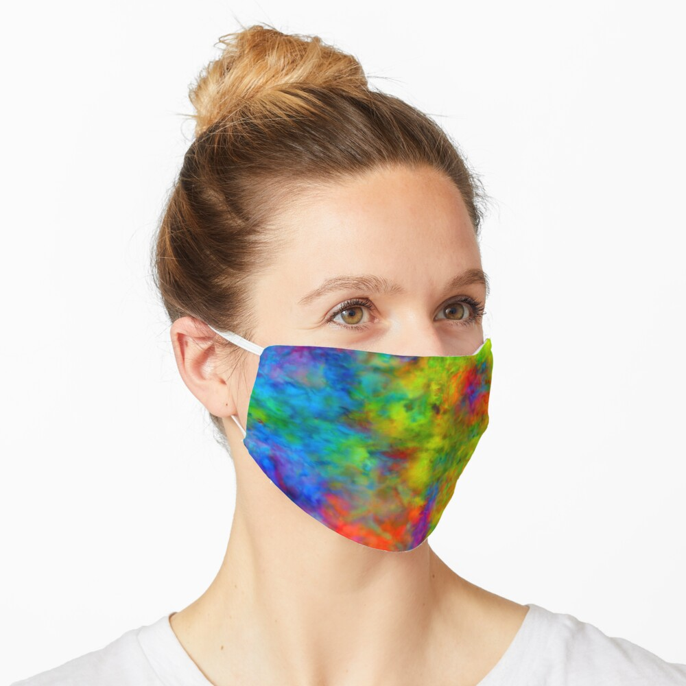 Atomic Tie-Dye Mask