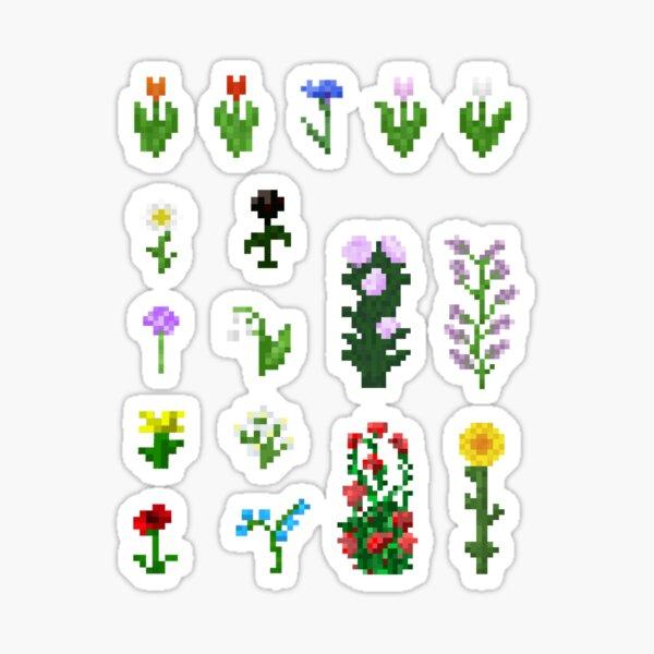 Minecraft Flower Sticker Set Sticker