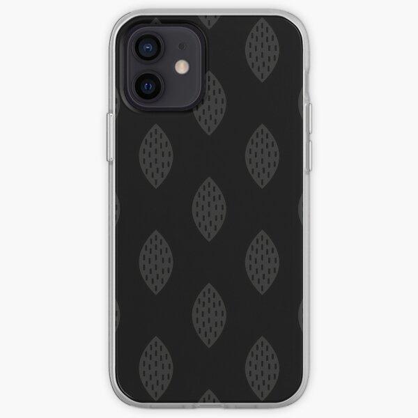 Leaf Black on Black iPhone Soft Case