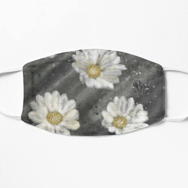 White Daisy on a Stormy Day Flat Mask