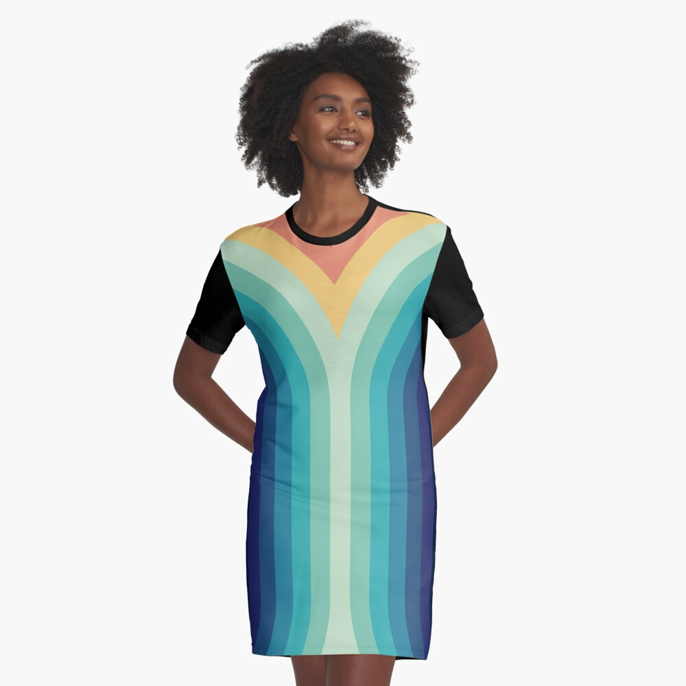 Retro Smooth 001 Graphic T-Shirt Dress