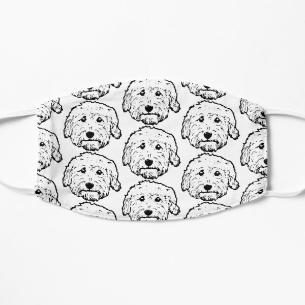 Goldendoodles! Labradoodles - any adorable doodle dog in black and white Mask
