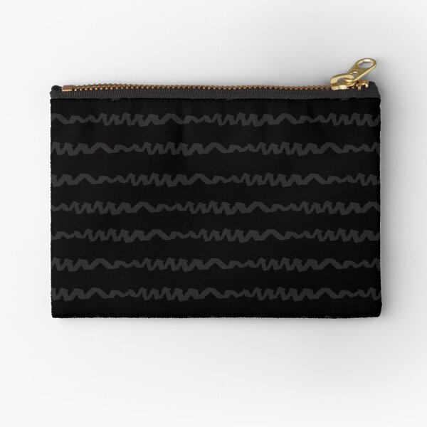 Scribble Black on Black Zipper Pouch