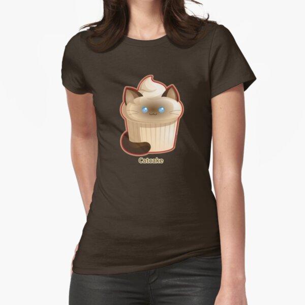 Cute Cat Cupcake Fitted T-Shirt