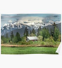 Cascade Mountains Poster