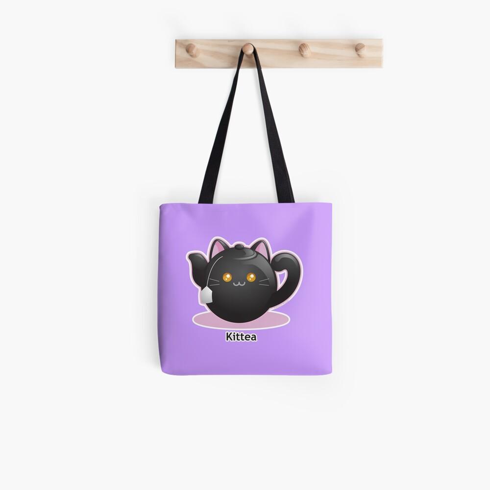 Cute Tea Pot Cat: Kittea Tote Bag