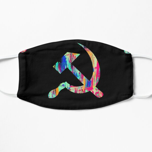 Psychedelic hammer and sickle Mask