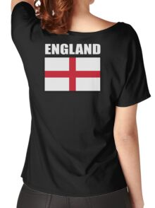 England, English Flag, Flag of St George, English, Englander, Patriot, Pure & simple, on Black Women's Relaxed Fit T-Shirt