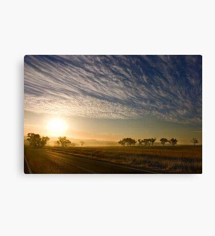 Smokey Sunset ~ Cootamundra (NSW) Canvas Print
