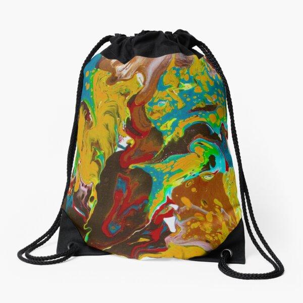 MILKY WAY, ACRYLIC PAINTING BY NOORA ELKOUSSY Drawstring Bag