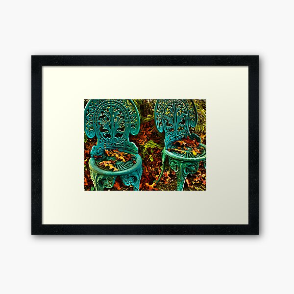 The Lovers' Chairs Framed Art Print
