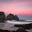 Moonrise over Camel Rock by David Haworth