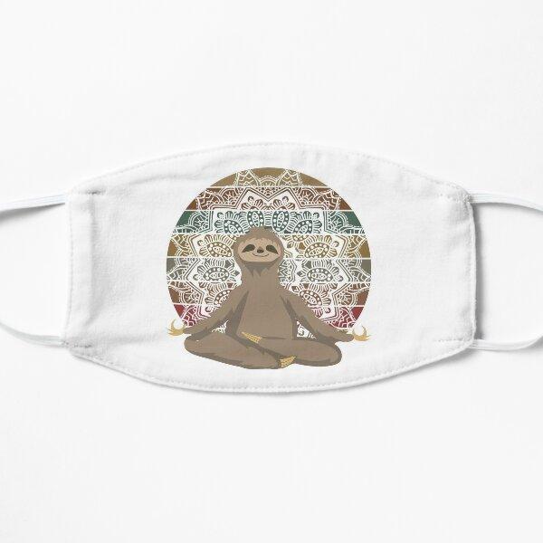 Sloth sitting in Lotus Flat Mask