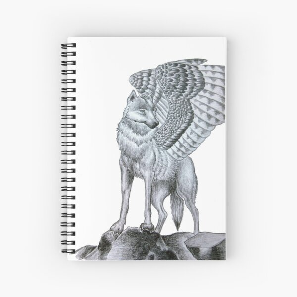 Winged Wolf  Spiral Notebook