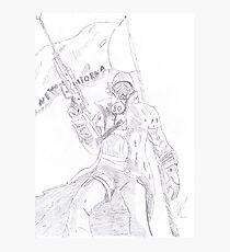 NCR Ranger Veteran Sketch Photographic Print