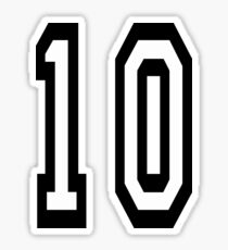 10, TEAM SPORTS NUMBER, TEN, TENTH, Competition Sticker