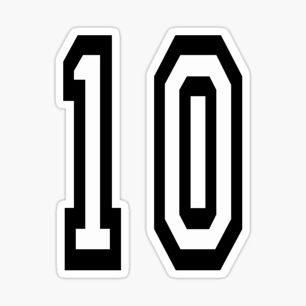 NUMBER 10. TEAM. SPORTS. 10th. TENTH. Competition. Sticker
