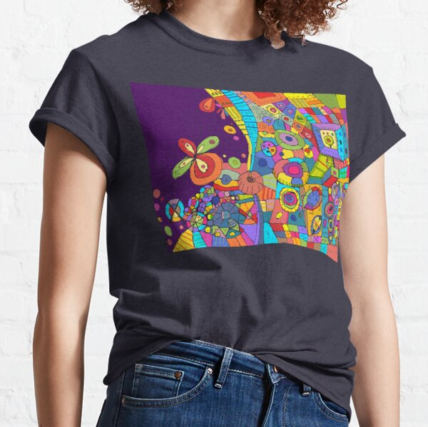 Purple Patchwork Classic T-Shirt