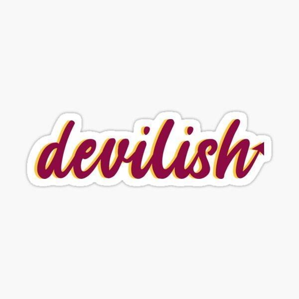 devilish sticker Glossy Sticker