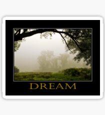 Inspiring Dreams Inspirational Art Sticker