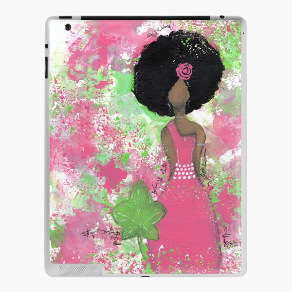 Dripping in Pink and Green Angel iPad Skin