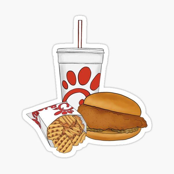 Red Fast Food Trio Sticker