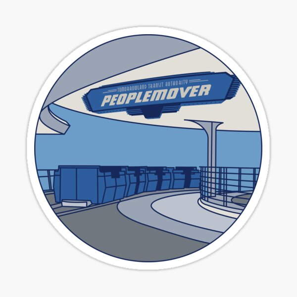 Tomorrowland Transit Authority People Mover Sticker