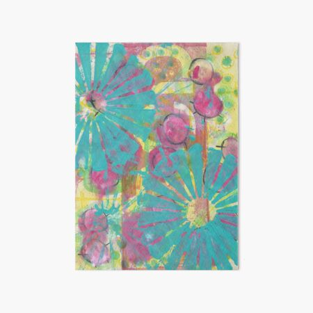 Blue Flower Abstract Art Board Print