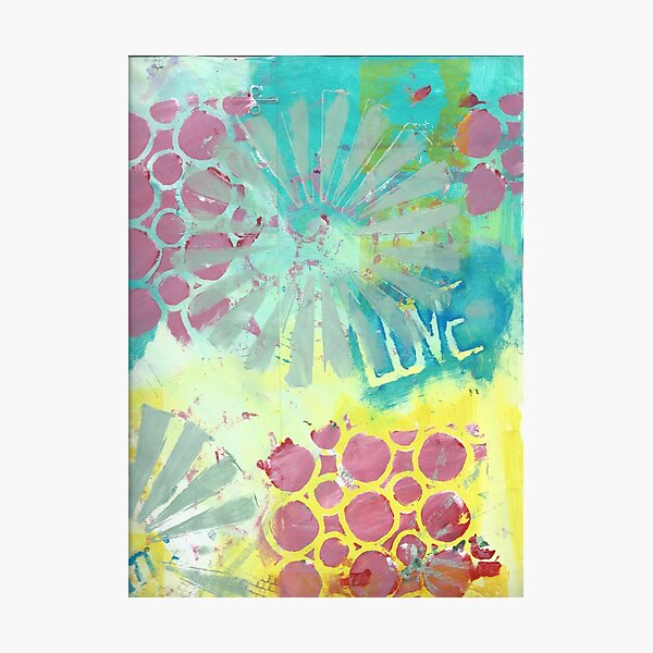 Love Collage Photographic Print