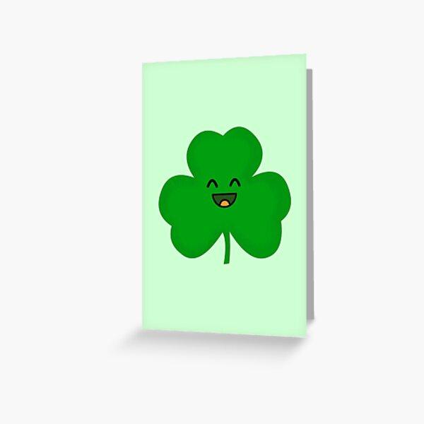 Happy Shamrock Greeting Card