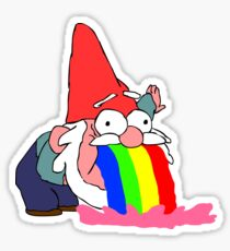 Gnome puking happiness - Gravity Falls Sticker