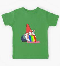 Gnome puking happiness - Gravity Falls Kids Tee