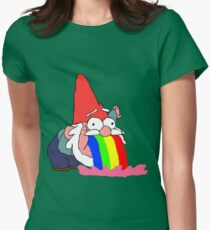 Gnome puking happiness - Gravity Falls Womens Fitted T-Shirt