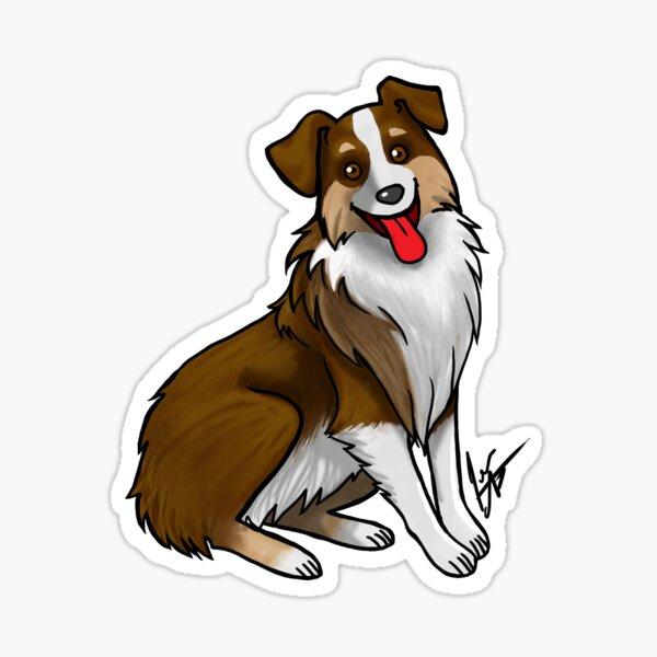 Australian Shepherd - Tri Color Liver Sticker