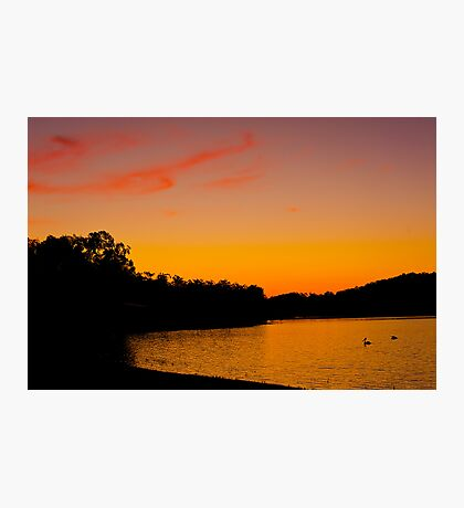 Sunset Wivenhoe Dam Photographic Print