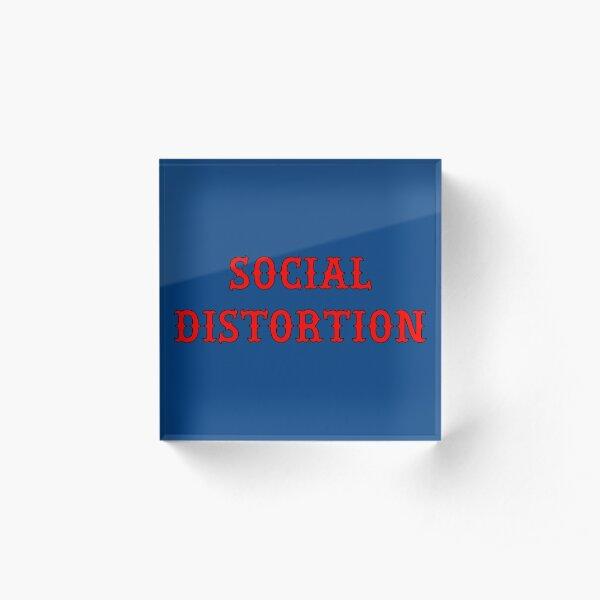 Social Distortion Acrylic Block