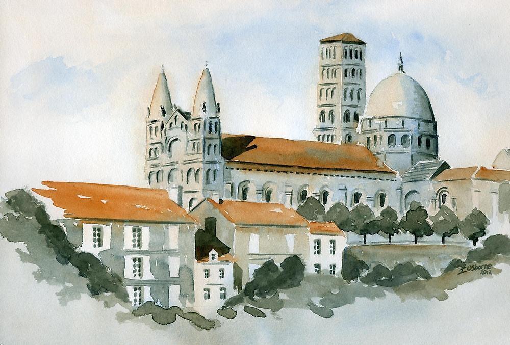 Cathédral at Angoulême, France by ian osborne