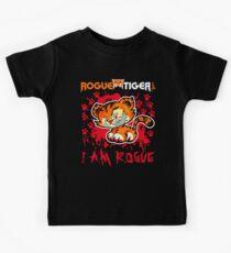 RogueTiger.com - Smirk Logo Red (dark) Kids Clothes